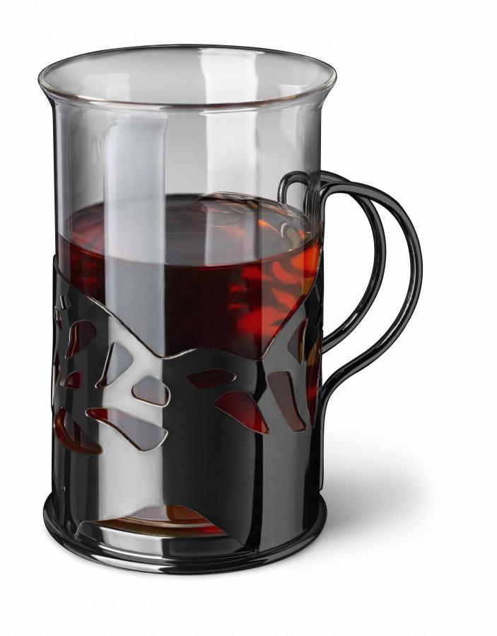 Black Onyx Набор стаканов в подстаканнике, 250 мл, 2 шт